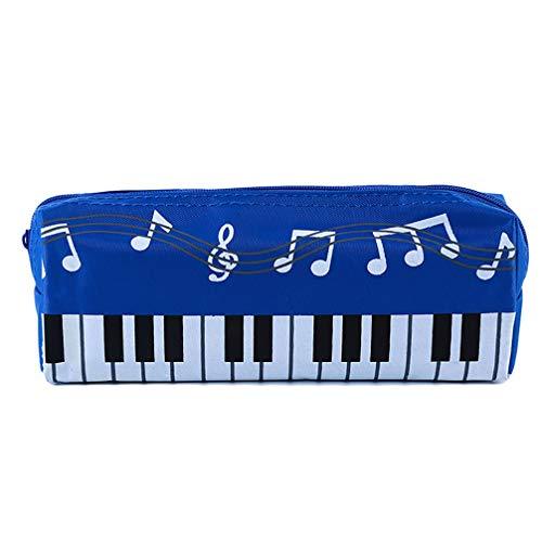JOMSK Cartoon Handtasche Klavier Musik Noten Frauen Kosmetiktasche mit Reißverschluss Wasserdichtigkeit Multifunktion Federmäppchen Kartenhalter Münztüte Handtasche