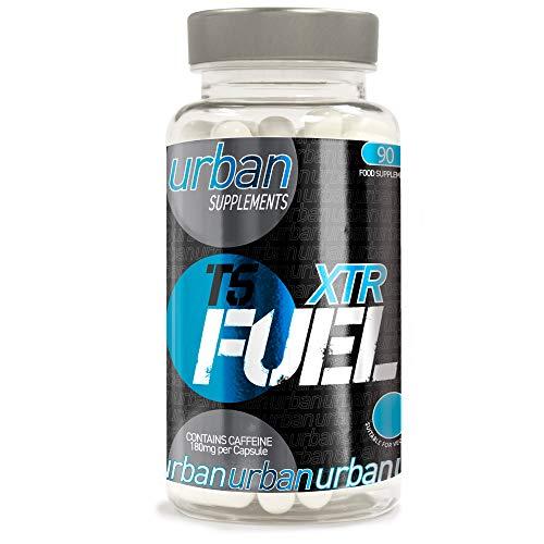 Urban Fuel XTR T5 Super Strength Metabolism Energy Maintenance Support Food Supplement with Caffeine L Tyrosine Choline Pyridoxine HCL Cholecalciferol 90 Capsules