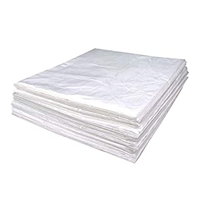 """Wedigout Plastic Sheeting for Body Wrap Used Inside a Far Infrared Sauna Blanket 47""""x82"""" PVC Pack of 50"""