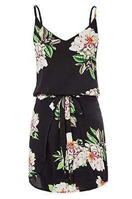 GRACE KARIN Women Floral Print Dress Spaghetti Strap V Neck Mini Dress CLAF0075
