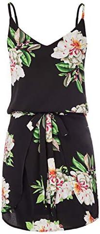 GRACE KARIN Women Floral Print Dress Spaghetti Strap V Neck Mini Dress Size S Floral 1 product image