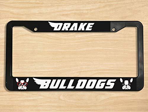 Yilooom Drake University Aluminium Metal Chrome License Plate Frame Steel Metal Car Tag Cover Holder Car Accessories For Women And Men