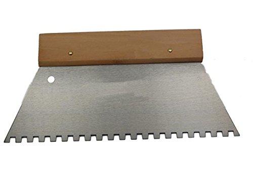 Outil He926250 Truelle crantée, rectangulaire mm ; 125 mm (lot de 100)