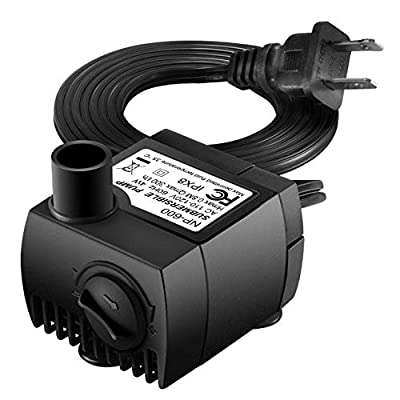 Homasy Upgraded 80 GPH (300L/H, 4W) Submersible Water Pump, 48 Hours Dry Burning Water Pump with 5.6ft (1.7m) Power Cord
