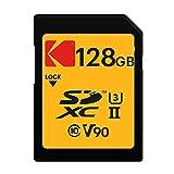 Kodak 128GB UHS-II U3 V90 Ultra Pro SDXC Memory Card - Up to 300MB/s Read Speed and 270MB/s Write Speed