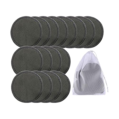 piezas algodón celuloso toallitas limpiador toalla 16 unids reutilizable de algodón de bambú maquillaje remover almohadillas lavable triple capa facial cuidado limpie almohadillas limpieza pad con bol