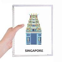 シンガポールのグリーティングビル 硬質プラスチックルーズリーフノートノート