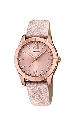 Calypso Reloj Análogo clásico para Mujer de Cuarzo con Correa en Cuero K5718/2