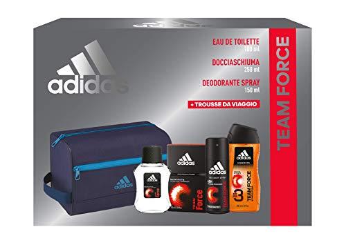 Adidas, Confezione Regalo Uomo Team Force, Eau de Toilette 100 ml, Gel Doccia Bagnoschiuma 250 ml, Deodorante Spray 150 ml,...