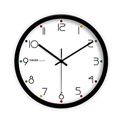 ZHAS Study Silent Wall Clock, Bedroom Living Room Balcony Bookstore Restaurant Office Stationery Shop The Mall Wall Clock Metal Wall Clock 30.5-35.5CM (Color : Black, Size : 35.535.5CM)