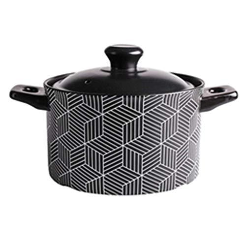 ZYING Zore Cerámica Sopa de cocido Hot Pot Arrocera con Tapa, Olla de Utensilios de Cocina for Uso multipropósito