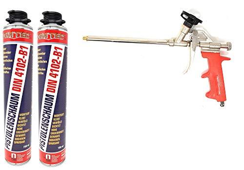 Toolzy 101781 - Juego de 3 pistolas de espuma NBS de montaje DIN 4102, fabricado en Alemania