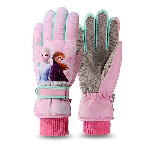 Greneric - Guantes de invierno para niña, diseño de princesa, color rosa