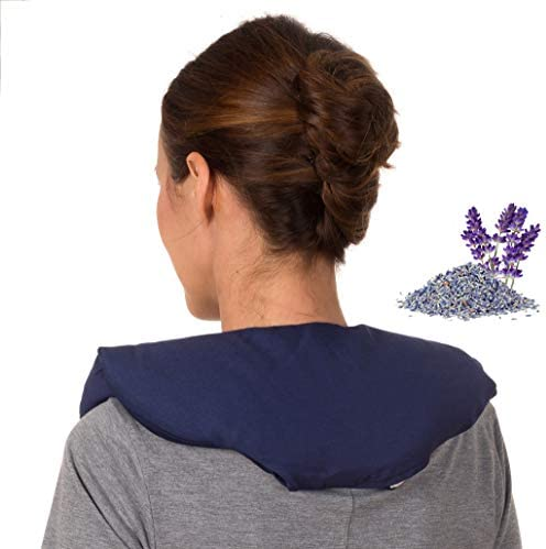 Microwave Heating Pad for Neck and Shoulders Microwavable Heated Neck Wrap Pillow Weighted Hot product image