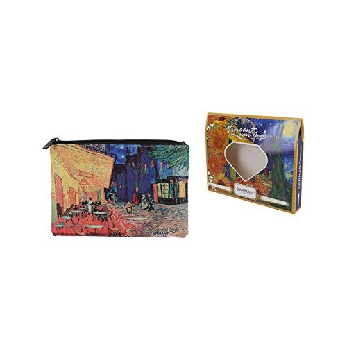 Carmani – Medium Damen Make-up-Tasche, Reisetasche, Handtaschen-Organizer, Geldbörse, Multifunktions-Toilette-Aufbewahrungstasche für Frauen mit Vincent Van Gogh