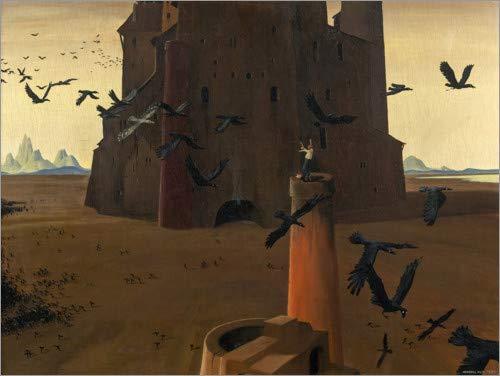 Posterlounge Leinwandbild 80 x 60 cm: Böser Traum von Herbert von Reyl-Hanisch - fertiges Wandbild, Bild auf Keilrahmen, Fertigbild auf echter Leinwand, Leinwanddruck