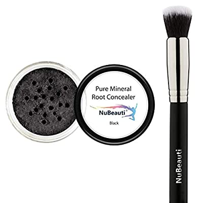 Root Concealer Touch Up Powder | All-Natural Crushed Minerals Without Brush | Fast and Easy Total Gray Hair Cover up For Black | Brown | Auburn and Blonde Hair .30 ounce