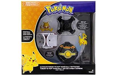 Pokemon Throw 'N' Pop Ultimate Pokeball Battle Set - Pokemon Toy Pikachu, Abra, Poké Ball, Luxury Pokeball, and 2 New Clips to Attach to Pokemon Belt - Time for a Pokemon Duel - Gotta Catch 'Em All by Pokemon