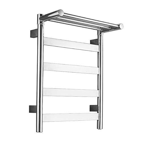 ZXCV Secador De Toallas Bano Smart Electric Toally Rack Secking Rack Hogar Stainless Shelf Baño Towel Rack Punch Free Punch600 * 450 / 500mm (Color : Exit Left, Size : 600 * 450 * 99)