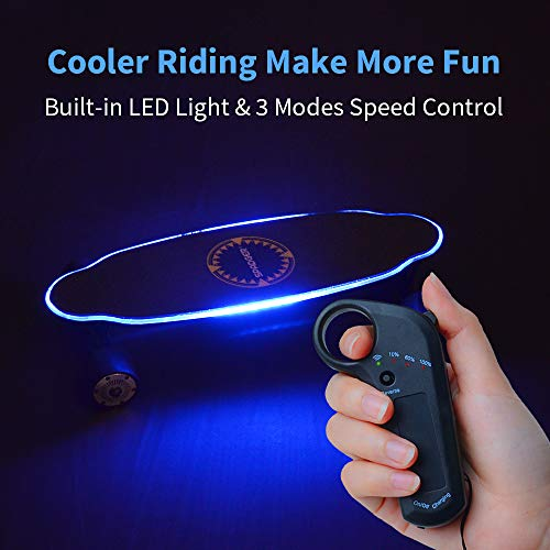 Elektro Skateboard Spadger D5X mit LED-Licht Bild 4*