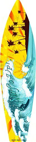 Smart Blonde Surf Up Metal Novelty Surf Board Sign SB-030