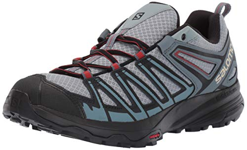 Salomon Men's X Crest Hiking Shoes, Lead/Stormy Weather/Bossa Nova, 13 US