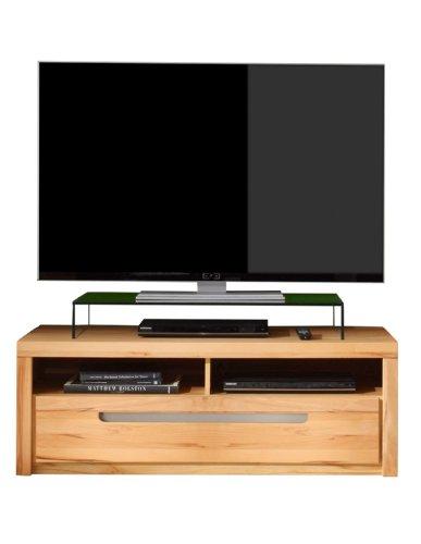 trendteam ZO31665 TV Möbel Lowboard, BxHxT 123 x 43 x 50 cm, Korpus Kernbuche Nachbildung und Fronten in Kernbuche massiv - 2