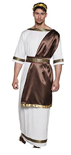 Boland- Zeus Dio dell'Olimpo Costume Adulto Uomo, Bianco, Taglia M/L, 83861