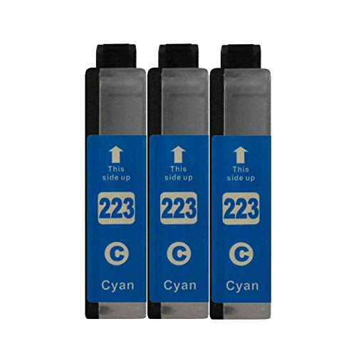 3 Druckerpatronen kompatibel zu LC223 Cyan für Brother DCP-J562DW DCP-J4120DW MFC-J480DW MFC-J680DW MFC-J880DW MFC-J4420DW MFC-J4620DW MFC-J4625DW MFC-J5320DW MFC-J5620DW MFC-J5625DW MFC-J5720DW