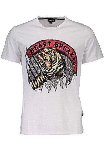 Just Cavalli S03GC0463 Camiseta con Las Mangas Cortas Hombre Bianco 100 L