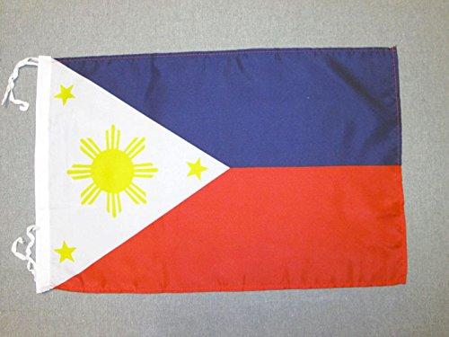 AZ FLAG Flagge Philippinen 45x30cm mit Kordel - PHILIPPINISCHE Fahne 30 x 45 cm - flaggen Top Qualität