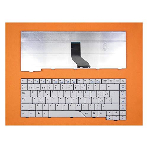 IFINGER Teclado Compatible de y para portatil Acer Aspire 5315 5720G 5730Z 5920 4720 4220G Blanco/Gris en español Keyboard SP Ver Foto