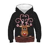 Tsyllyp Kids Novelty Christmas Hoodie,Boys Girls Ugly Christmas Reindeer Sweatshirt, Chrismas Costume