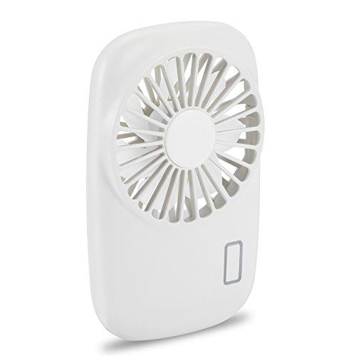 Aluan Handheld Fan Mini Fan Powerful Small Personal Portable Fan Speed Adjustable USB Rechargeable Cooling for Kids Girls Woman Home Office Travel, White