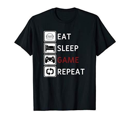EAT SLEEP GAME REPEAT - Essen Schlafen Zocken Repeat Tshirt