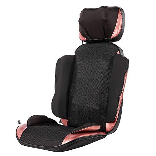 CO-Z Massageauflage Massagesitzauflage mit Wärmefunktion Vibrationsmassage Massagematte Rücken- und Schultermassagegerät 20 Shiatsu Knoten zuhause im Büro (20 Knoten)