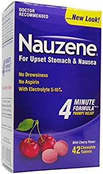 Nauzene Upset Stomach & Nausea Relief Chewable Tablets Wild Cherry Flavor