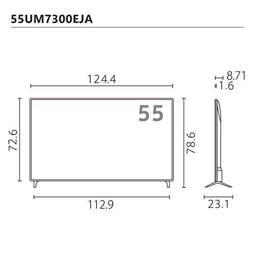 LG55V型4Kチューナー内蔵液晶テレビAlexa搭載ドルビーアトモス対応TV55UM7300EJA