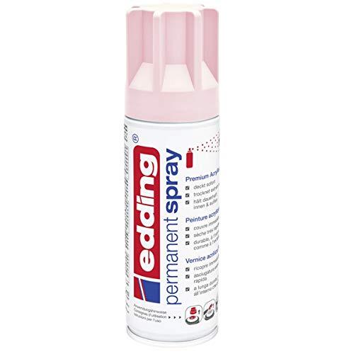 edding 5200 Permanent-Spray - pastell-rosa matt - 200 ml - Acryllack zum Lackieren und Dekorieren von Glas, Metall, Holz, Keramik, lackierb. Kunststoff, Leinwand, u. v. m. - Sprühfarbe