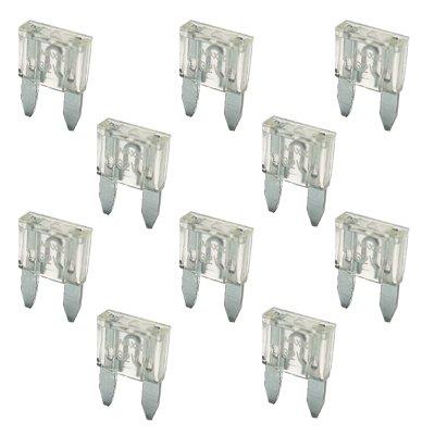 Preisvergleich Produktbild 10 Flachstecksicherung Mini-Sicherung 25A / 32V / weiss