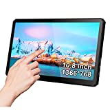 10.8 Inch USB Touch Monitor with Stand-1366x768 HDMI/Type C Portable Display IPS Gaming Screen Compatible with Raspberry PI Mini PC Windows 10 Laptop
