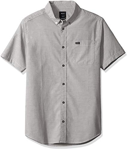 RVCA Herren Thatll DO Stretch Short Sleeve Woven UP Shirt Button Down Hemd, Pavé-Fassung, Klein