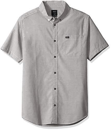 RVCA Herren Thatll DO Stretch Short Sleeve Woven UP Shirt Button Down Hemd, Pavé-Fassung, Klein