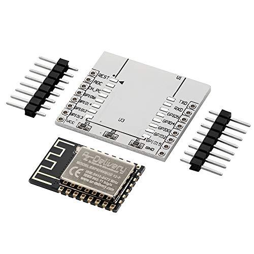 AZDelivery ESP8266 ESP-12F verbesserte Version zu ESP-12E WLAN WIFI Modul für Arduino mit Adapter Board und mit gratis eBook!