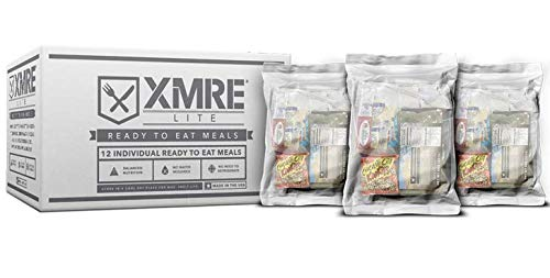 XMRE Meals 1300XT LITE - 12 Case with FRH Heaters, Meal Ready to Eat - Military Grade, New Fresh Dates Meals, XMRE1300XT-Lite Meals-12 Case with FRH Heaters