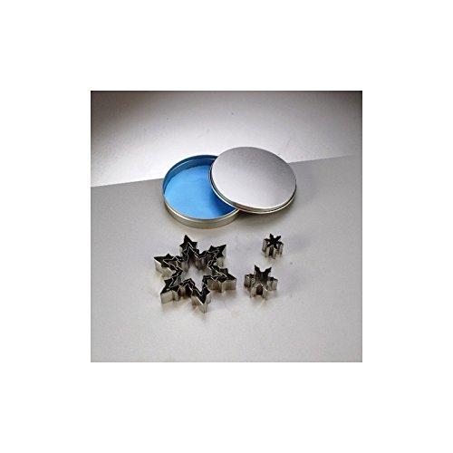 Efco Emporte-pièces en INOX, 6 Flocons de Neige, 2,5 à 10 cm