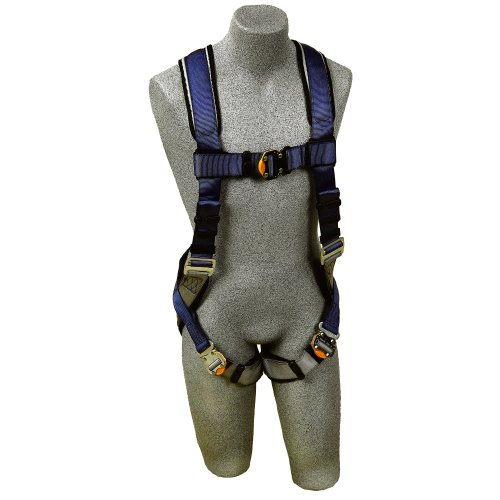 3M DBI-SALA Medium ExoFit Full BodyVest Style Harness With Back D-Ring, Quick Connect Chest And Leg Strap Buckle, Loops For Body Belt And Built-In Comfort Padding - 1107976