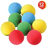 ArtCreativity Soft Foam Balls - Pack of 12 - Lightweight Mini Play Balls for Safe Indoor Toys Fun, Vibrant Assorted Colors, Unique Birthday Party Favors for Boys and Girls