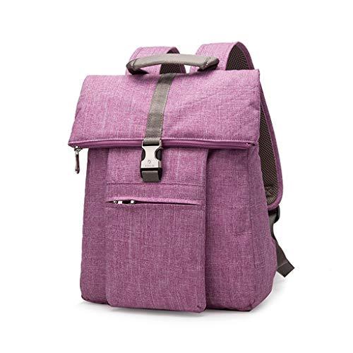 "S2F5 ほとんどのラップトップに適したビジネストラベルバックパック、大容量のコンピュータのバックパック、学生のファッションは防水性と耐衝撃コンピュータバッグ、 (Color : Watermelon red, Size : 15.4"")"
