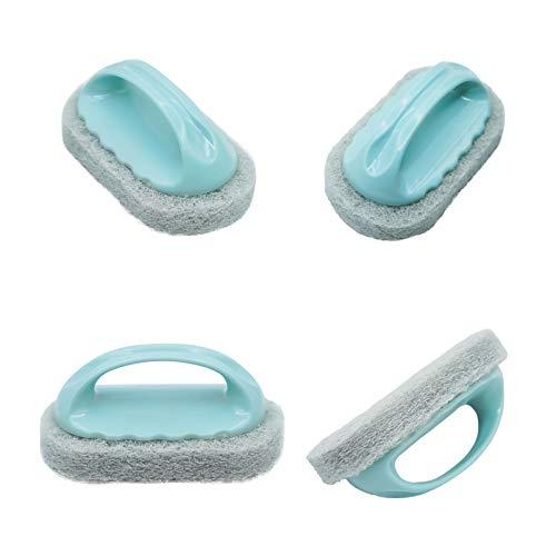 HUOHUOZHU Cepillo de limpieza para fregadero de cocina, esponjas de limpieza con asas Soporte de cepillo de limpieza para fregadero, organizador de fregadero